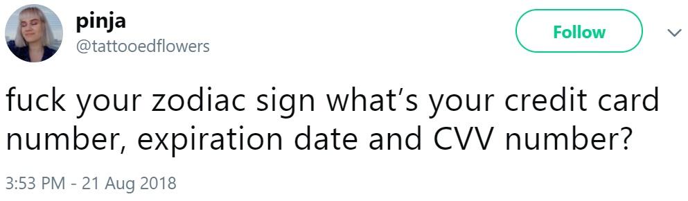 К чёрту твой знак зодиака