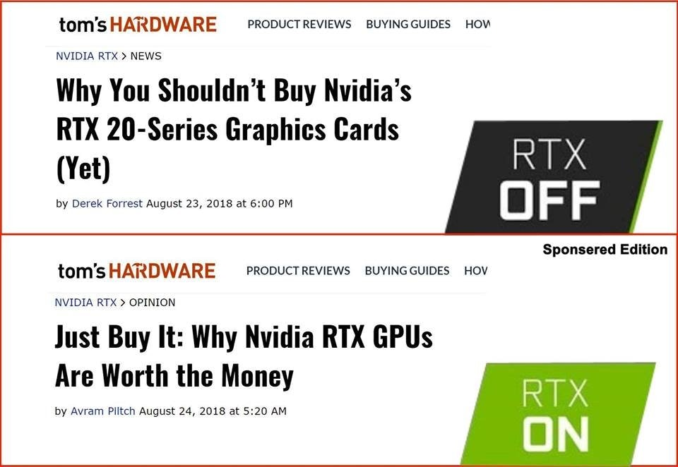 RTX Off / RTX On
