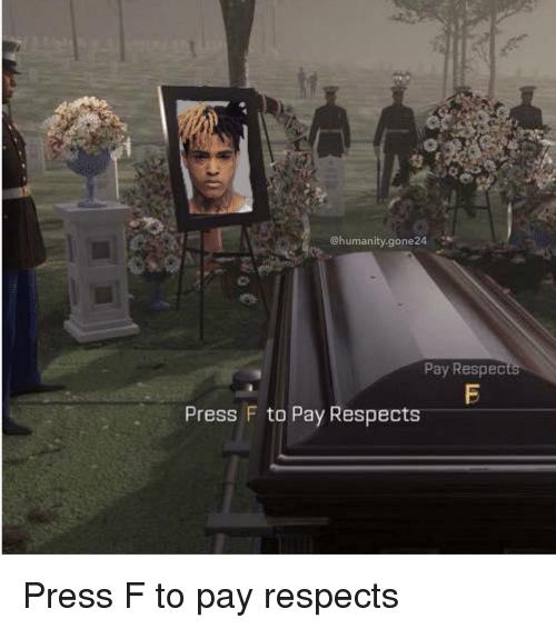 Смерть XXXTentacion Press F