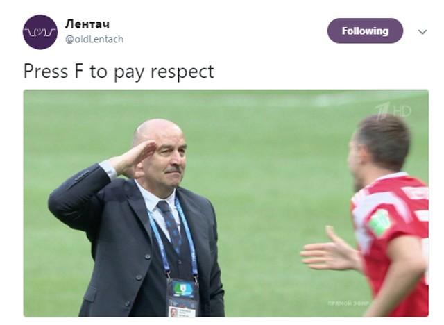 Лентач постит мем про Черчесова Press F to pay respect