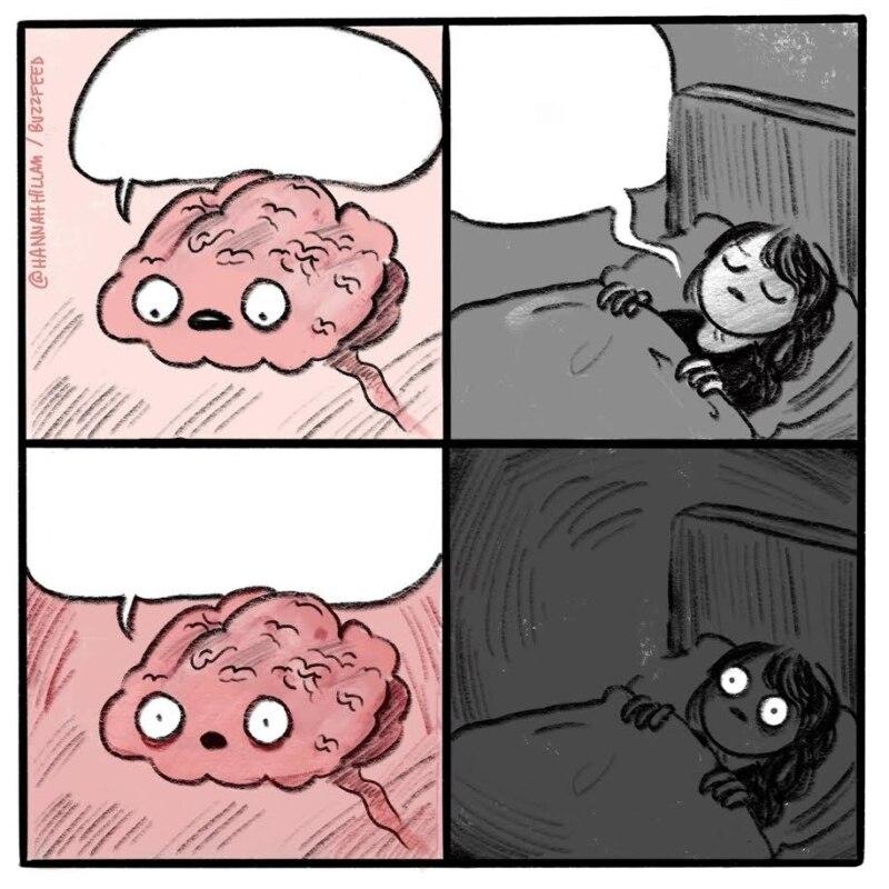 ты спать собираешься, ты спать собираешься шаблон, надоедливый мозг шаблон, мозг не дает спать