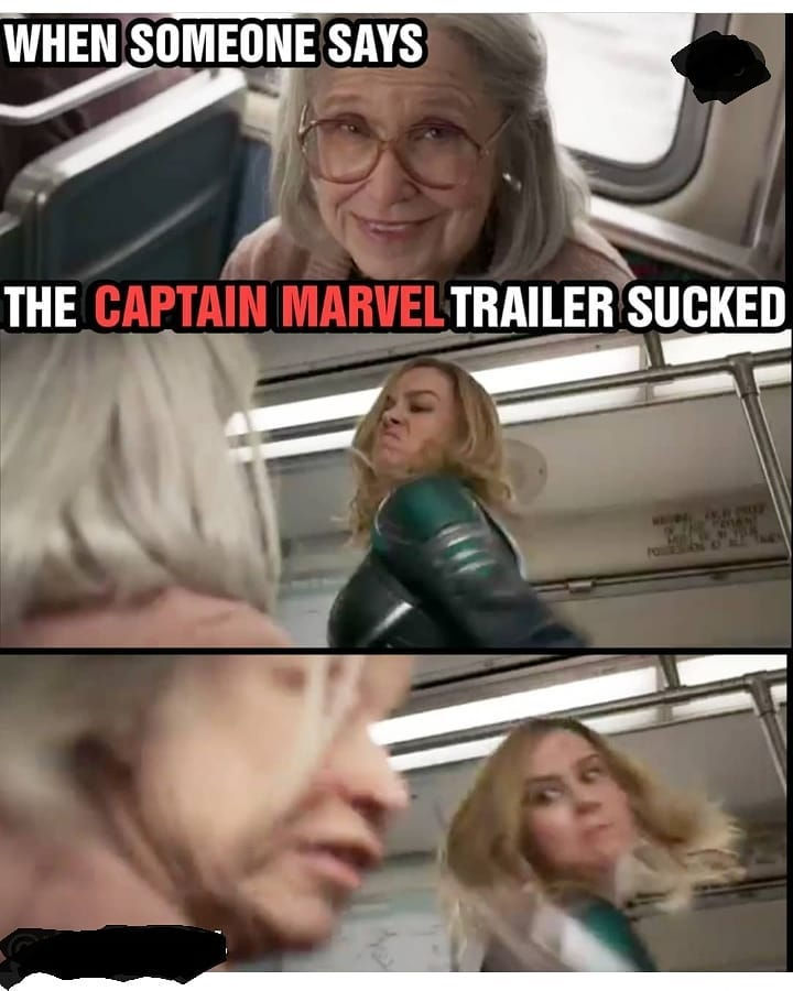 Капитан Марвел бьет бабушку