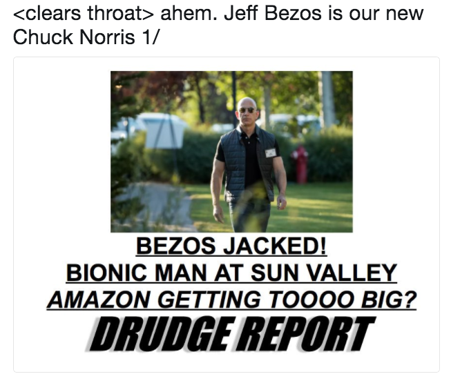 bezos jacked bionic man