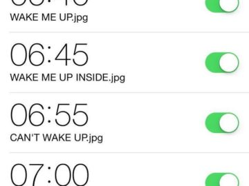 cant wake up alarm