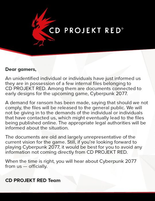 cd project red letter