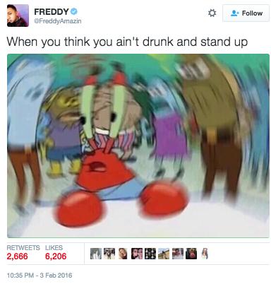 confused krabs drunk
