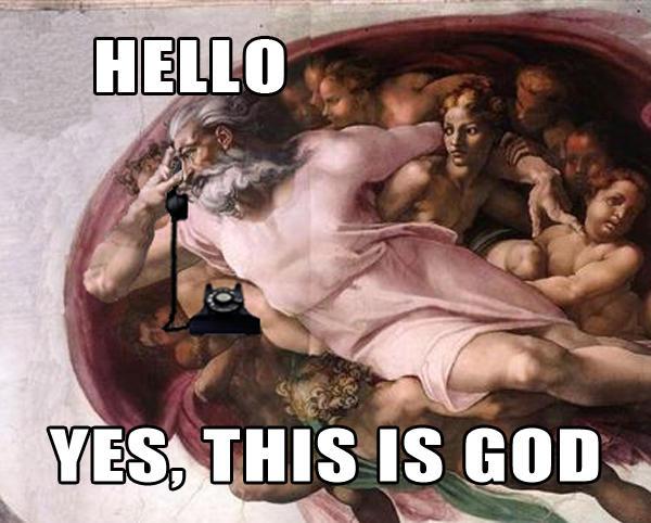 Алло. Да, это бог