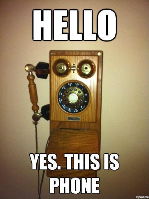 Алло. Да, это телефон