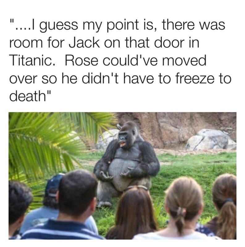 Для Джека было место на той двери, он бы не замерз насмерть
