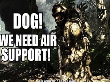 Поддержка с воздуха, пес!