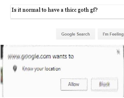 Thicc goth gf
