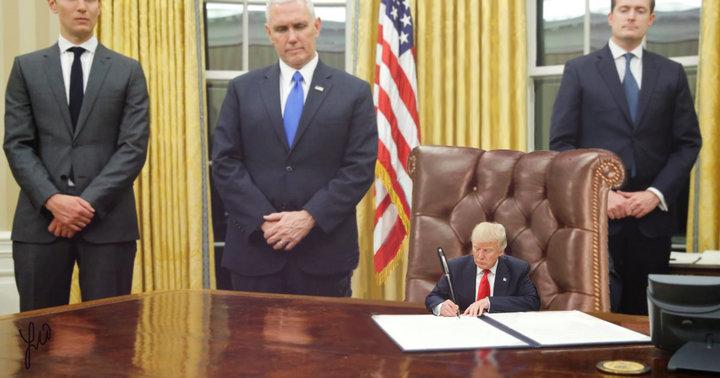 Tiny Trump Huge Pen