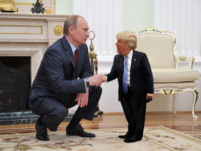 Tiny Trump With Putin