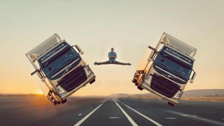 ван дамм трюк с грузовиками