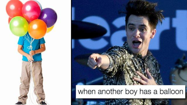 When Another Boy Has A Balloon example