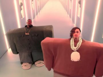 Квадратные Lil Pump и Канье Уэст
