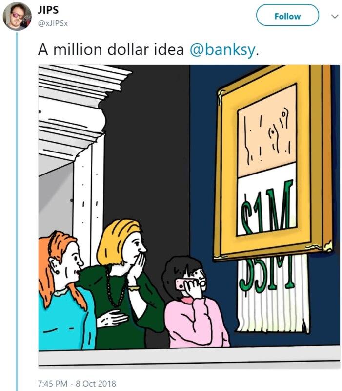 Мемы и карикатур с картиной Бэнкси