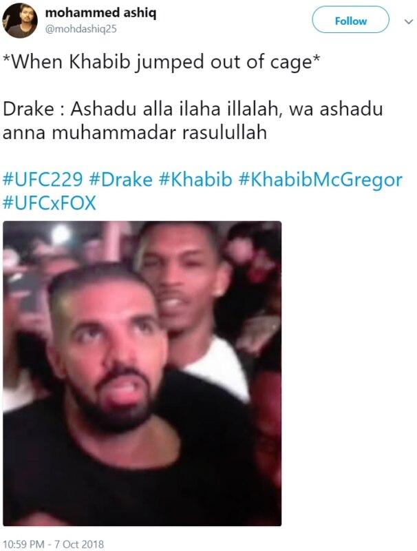Фейк: лицо Дрейка на UFC