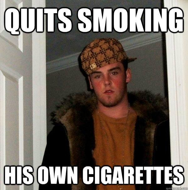 Бросил курить - свои сигареты