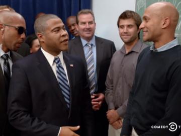 Скетч с приветствием Обамы
