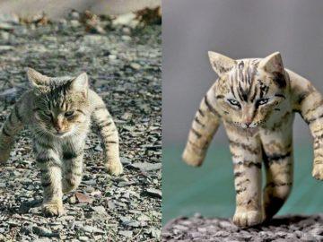 Скульптуры странных котов