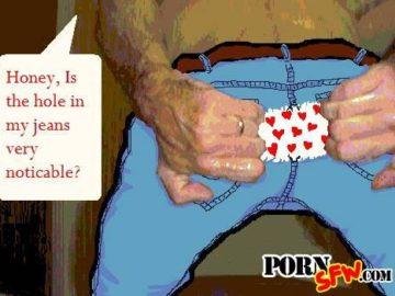 Дорогая, дырка на моих джинсах слишком заметная?