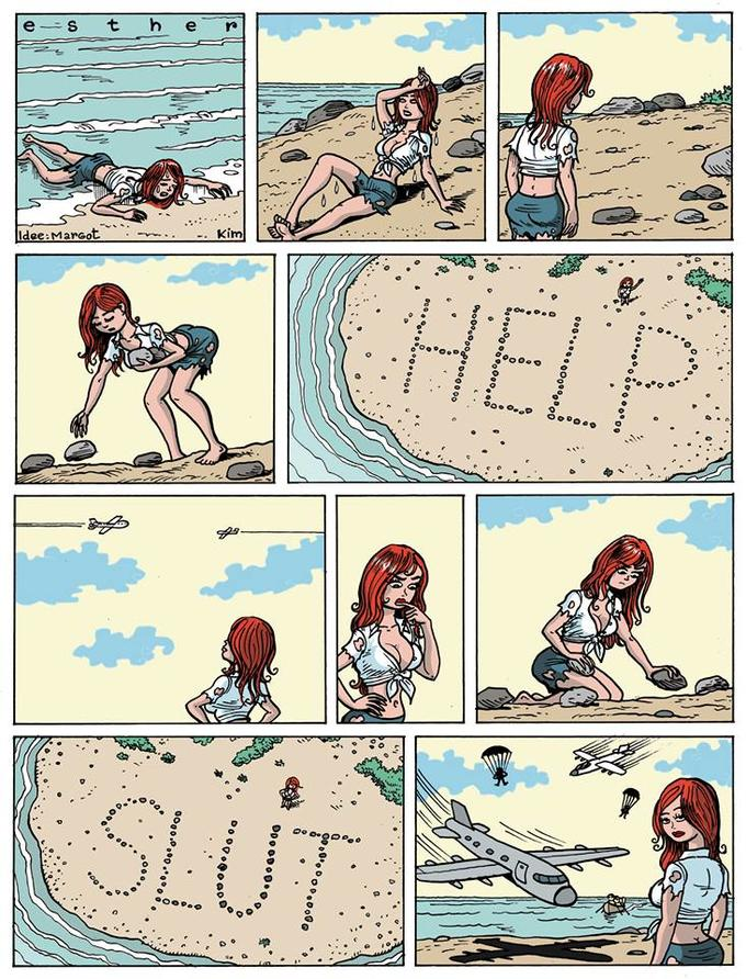 Esther Verkest's Help Sign - Original Esther Verkest Comic