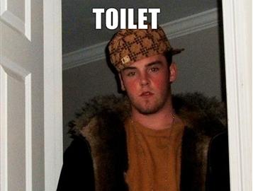 Гадит в общественном туалете - не смывает