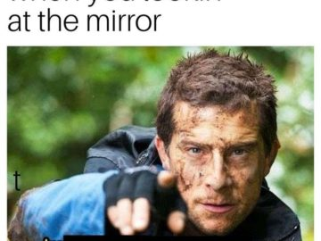 Когда смотришь в зеркало