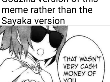 That wasn't very cash money of you