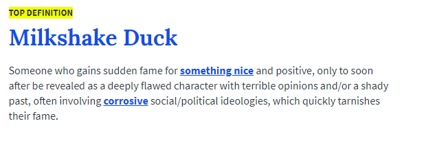 Milkshake Duck definition