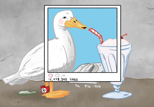 Типичная Milkshake Duck