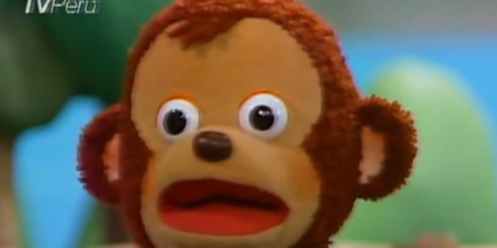 Удивленная обезьянка