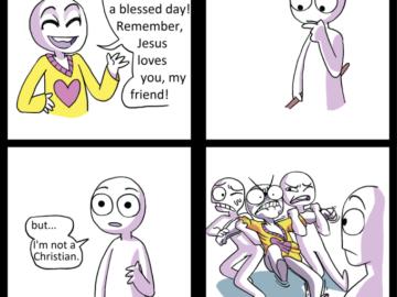 Помни, Иисус любит тебя, друг - Но я не христианин