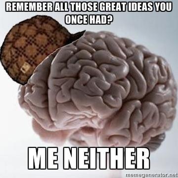 Помнишь обо всех тех крутых идеях - Я тоже нет