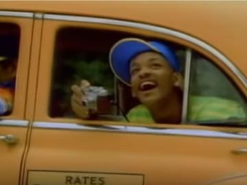 Уилл Смит едет на такси