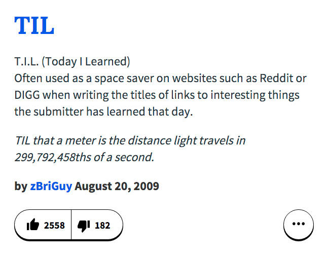 TIL Urban Dictionary