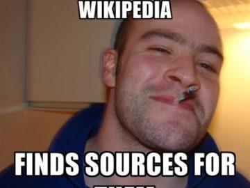 Указывает источники на Википедии