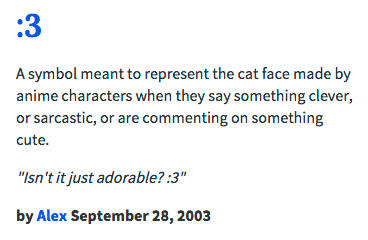Urban Dictionary :3