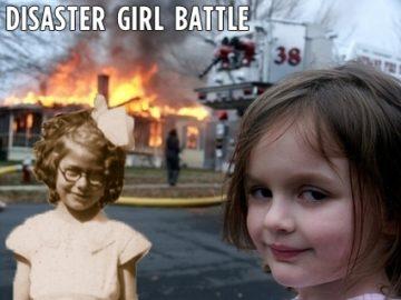 Винтажная девочка-катастрофа