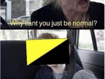 Why Can't You Just Be Normal - Ancap