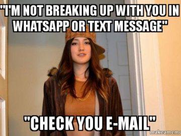 Я не порву с тобой через мессенджеры - проверь свой email