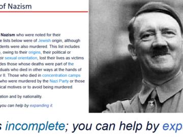 You Can Help By Expanding It - Список жертв нацизма