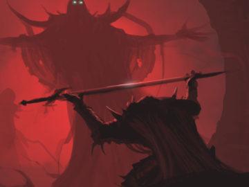 Воин подносит меч