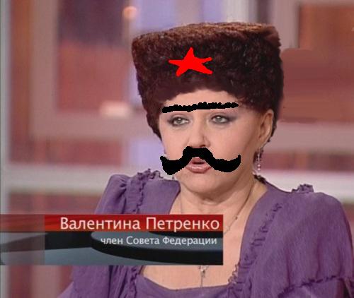Валентина Петренко и ее прическа