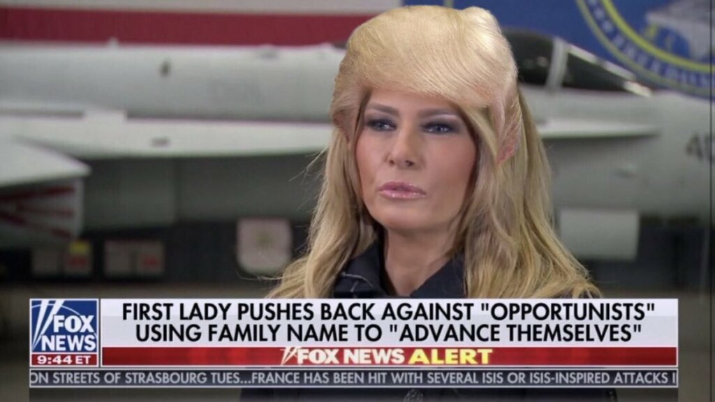 Мелания Трамп блондинка