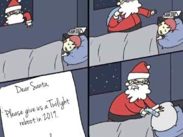 """""""Дорого Санта, пожалуйста, сделай так, чтобы в 2019 году перезапустились """"Сумерки"""""""""""