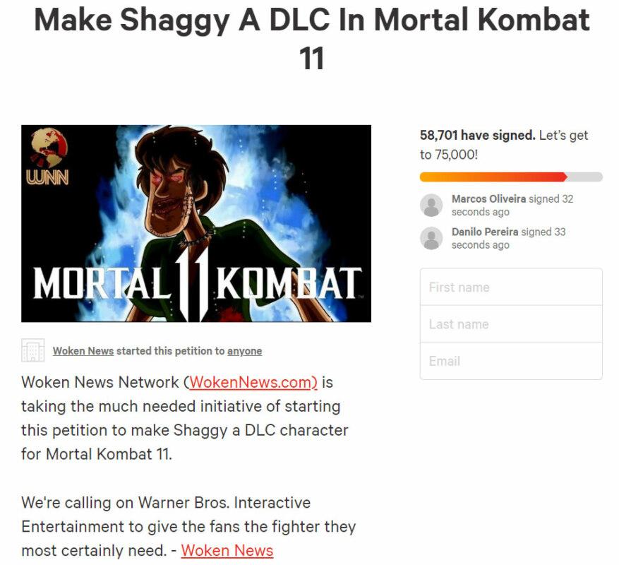 Shaggy mortal combat 11