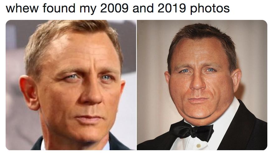 me in 2009 vs. me in 2019 memes