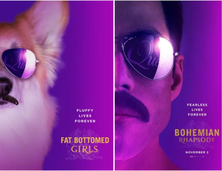 Корги на постерах фильмов